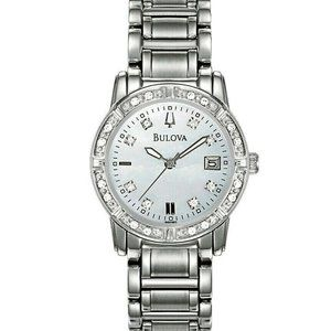 Bulova Diamond Accented Mother of Pearl 26mm